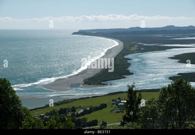The Okatiro lagoon, South Island, New Zealand - Stock Image