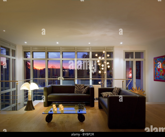 ARCHITECTURE: Contemporary livingroom (Germany/Bad Toelz) - Stock Image