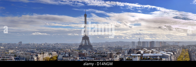 The Eiffel Tower and panorama of Paris, France. - Stock-Bilder