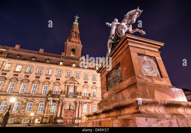 Christiansborg Palace in Copenhagen, Denmark. - Stock-Bilder