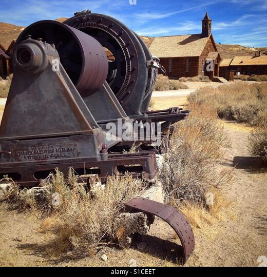 Bodie State Historical Park near Mono Lake in California. - Stock Image