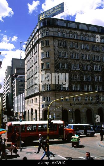 Jimenez Avenue.Santa Fe de Bogota.Colombia - Stock Image