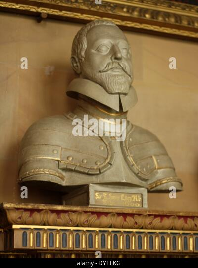 Bust of Sir Thomas Lucy 1600 A.D. - Stock Image