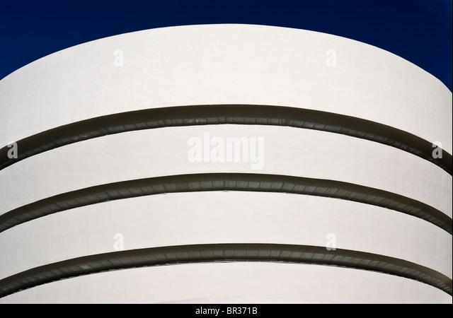 The Guggenheim Museum, New York City. Frank Lloyd Wright, Architect. - Stock Image