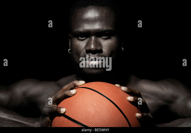Basketball player, portrait - Stock Image