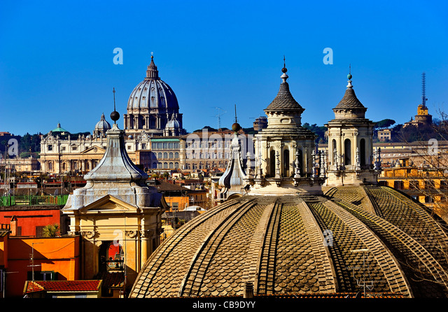 Overview, Rome, Italy. - Stock Image