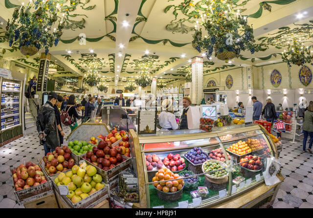 Fresh fruits  in Harrods Department Store in Knightsbridge, London - Stock Image