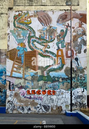 Sandinista stock photos sandinista stock images alamy for Mural nicaraguense