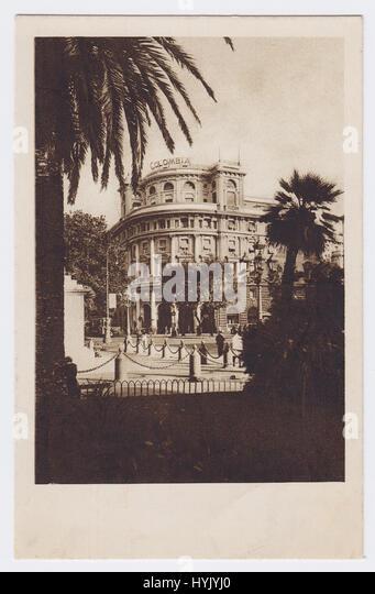 Hotel Colombia & Piazza Acquaverde, Genoa, Italy - Stock Image