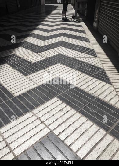 Black and White Street Art, Spain - Stock-Bilder