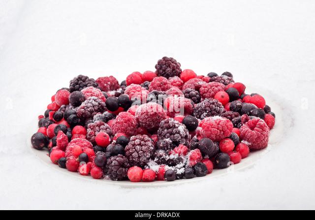 Frozen berries - Stock Image