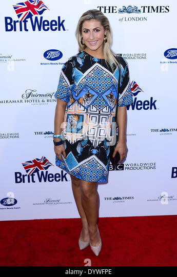 Los Angeles, California, USA. 22nd Apr, 2014. Emma Slater arrives at the 8th Annual 2014 BritWeek Launch Party held - Stock Image