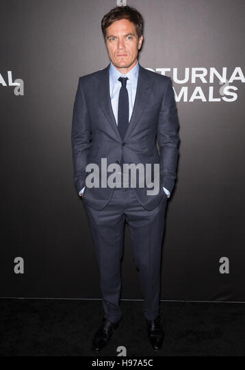 New York City, USA - November 17, 2016: Actor Michael Shannon attends the 'Nocturnal Animals' New York premiere - Stock-Bilder
