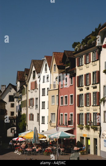 Switzerland chur old town square - Stock Image