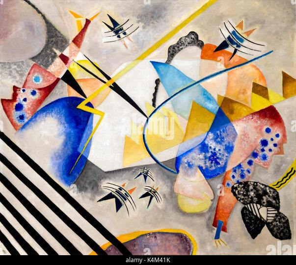 White Center, by Vasily Kandinsky, 1921, Solomon R. Guggenheim Museum, Manhattan, New York City, USA, North America - Stock Image