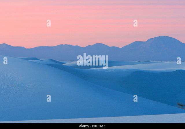 White Sands National Monument, New Mexico. - Stock Image