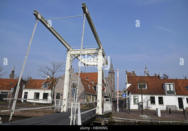 Baanbrug, bridge, Edam, The Netherlands - Stock Image