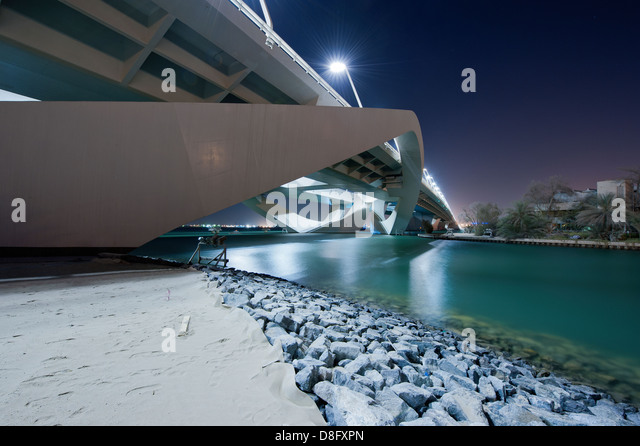 Sheikh Zayed Bridge in Abu Dhabi, UAE - Stock Image
