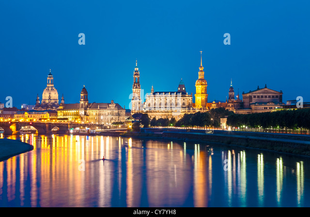 Dresden Skyline, Germany - Stock Image