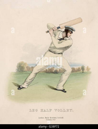 'Leg Half Volley'          Date: 1845 - Stock Image