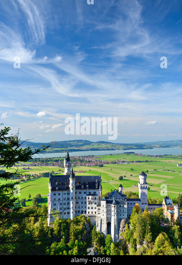 Neuschwanstein Castle in the Bavarian Alps of Germany. - Stock-Bilder