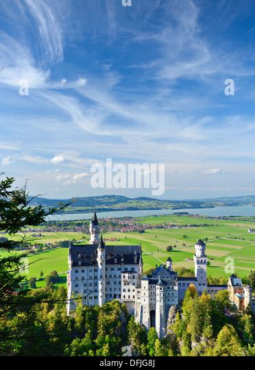 Neuschwanstein Castle in the Bavarian Alps of Germany. - Stock-Bilder
