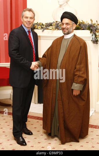 Britain's Prime Minister Blair meets leader of the Shia Alliance Iraq, Abdel Aziz al-Hakim inside 10 Downing - Stock Image