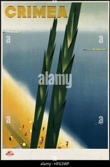 Vintage Travel Poster - Crimea - Stock Image