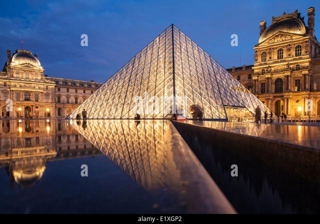 The Louvre, Paris - Stock Image