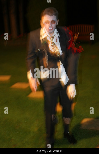 zombie at fancy dress party - Stock Image