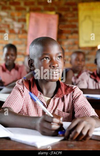 Ugandan school, Uganda, Africa - Stock Image