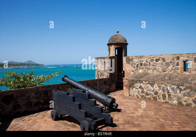 Fort of San Felipe, Puerto Plata, Dominican Republic, West Indies, Caribbean, Central America - Stock Image