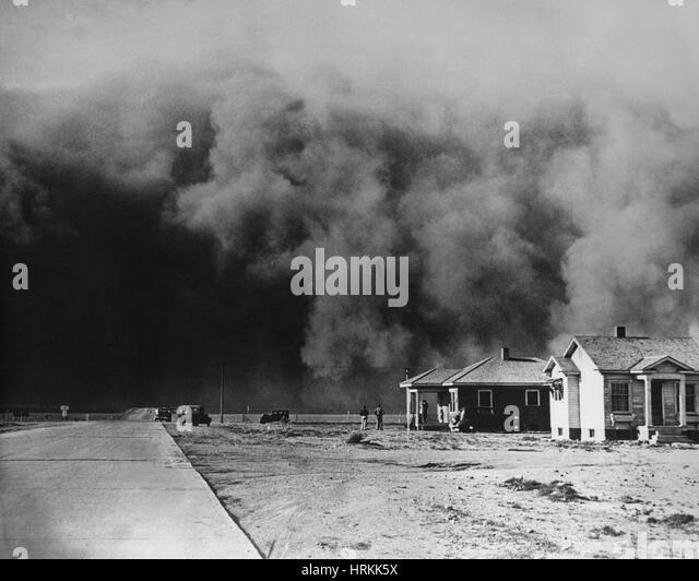 Dust Storm, 1930s - Stock Image
