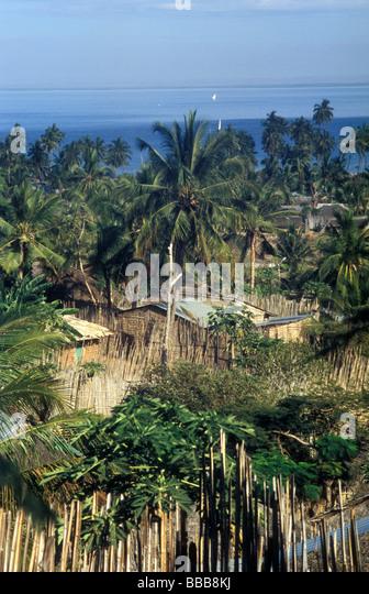 paquitequete village pemba mozambique - Stock Image
