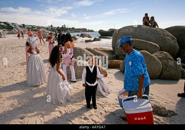 south africa cape town clifton beach private wedding - Stock Image