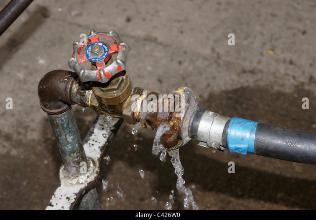 Water pipe leak stock photos water pipe leak stock for The leaky pipe carries more water