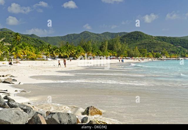 Jolly Beach, Antigua, Lesser Antilles, the Caribbean, America - Stock Image