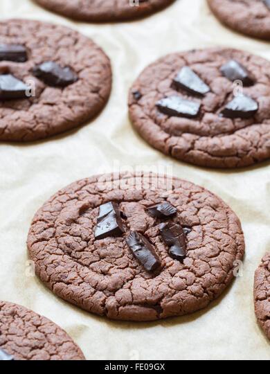 Vegan flowerless gluten free cookies with chocolate chips. - Stock Image