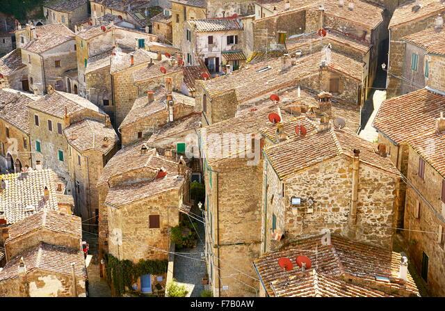 Sorano, Tuscany, Italy - Stock Image