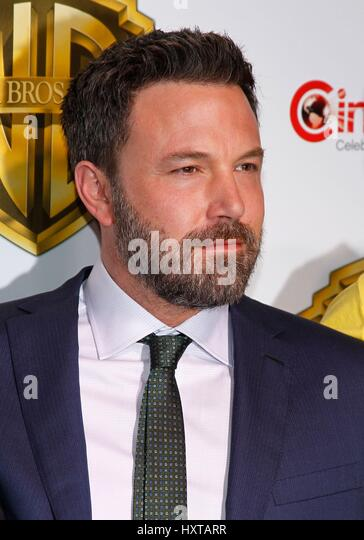 Las Vegas, NV, USA. 29th Mar, 2017. Ben Affleck at arrivals for Warner Bros. Pictures Invites You to The Big Picture - Stock Image
