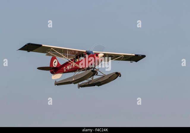 Christen A-1 Husky G-WATR amphibious aircraft at Old Warden airfield - Stock-Bilder