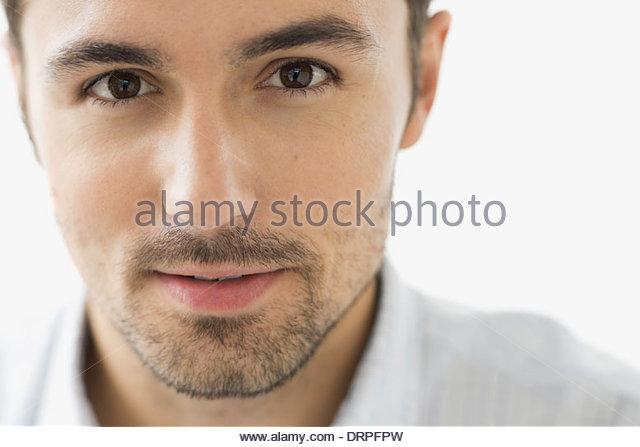 Close-up portrait of confident man - Stock-Bilder