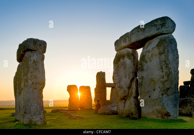 Stonehenge, near Salisbury, Great Britain - Stock Image