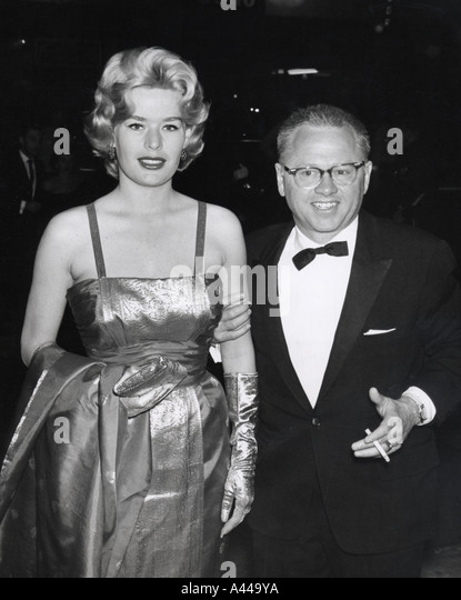 MICKEY ROONEY and wife Barbara Ann Thomason who was murdered in 1966 - Stock Image