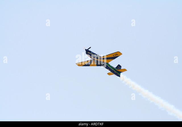 Esquadrilha da Fumaça, Tucano T-27 EMBRAER EMB-312 - Stock Image