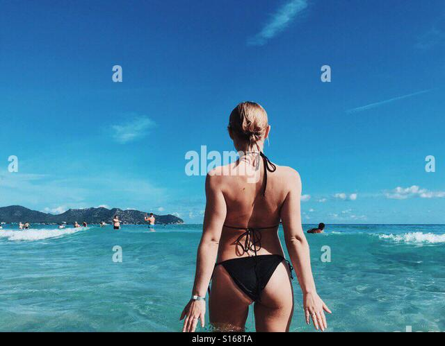 Me on the beach - Stock-Bilder