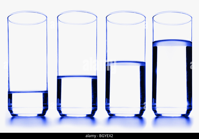 Glasses of water - Stock Image