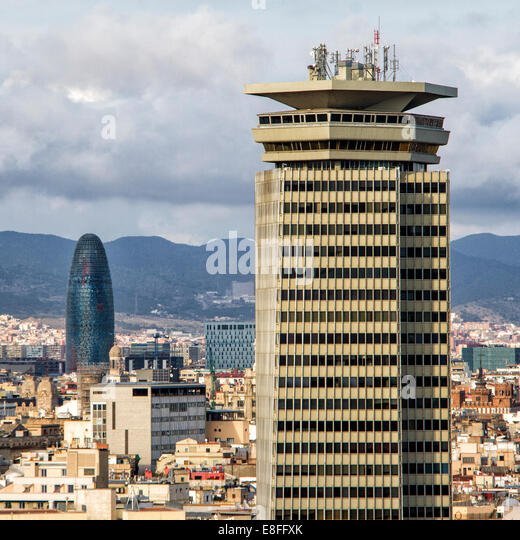 Spain, Cityscape of Barcelona - Stock Image