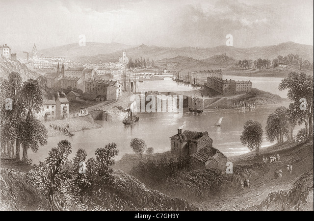 Bristol, England in the early 19th century. - Stock Image