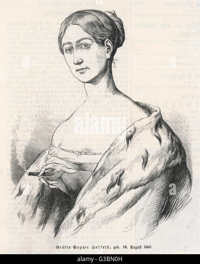 SOPHIE grafin HASFELD German aristocrat, but that's  all we know about her.        Date: 1805 - ? - Stock Image